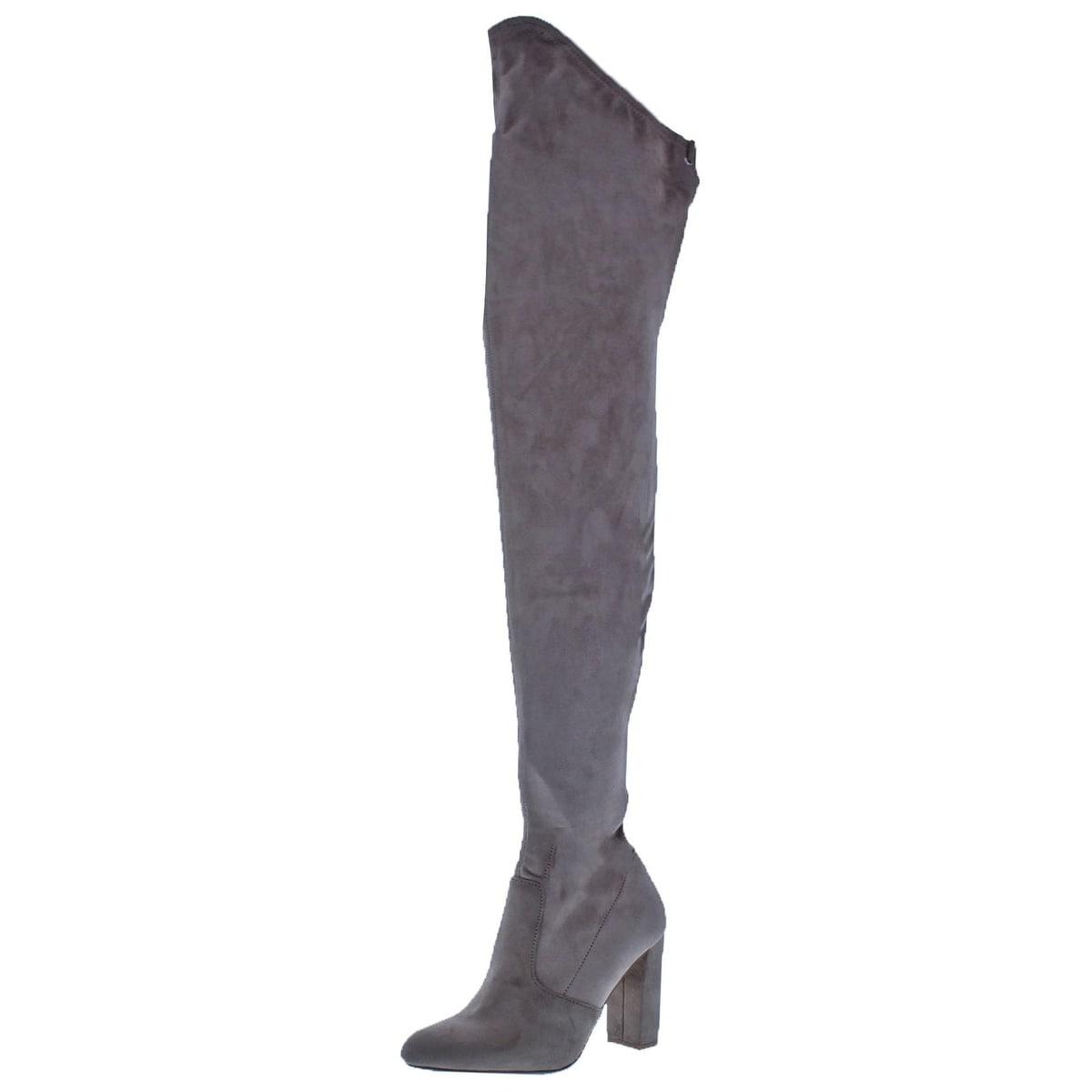 Steve Madden Womens Elektric Thigh High Boots Faux Suede Tall