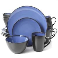 Gibson 94826.16 Gh Soho Lounge Round Blue 16Pc Dinnerware Set