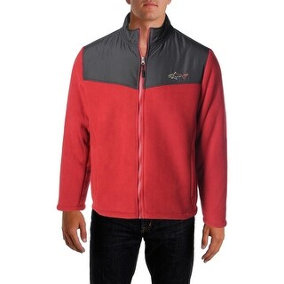 Greg Norman Mens Long Sleeves Monogram Fleece Jacket