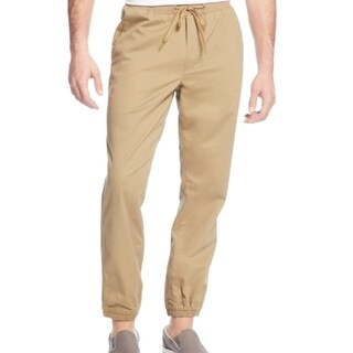 American Rag NEW Beige Mens Size Small S Pull-On Drawstring Casual Pants