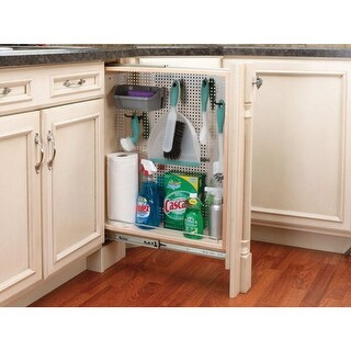 """Rev-A-Shelf 434-BF-6SS 434 Series 6"""" Base Filler Pull Out Organizer with Stainless Steel Panel - N/A"""