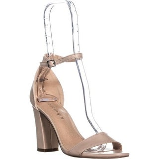 madden girl Beella Ankle Strap Dress Sandals, Blush PU