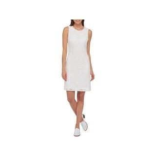 Tommy Hilfiger Womens Wear to Work Dress Lace Sleeveless