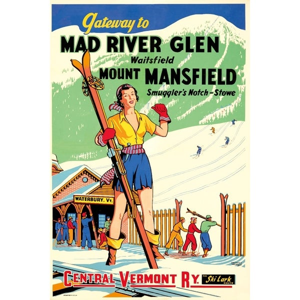 Mad River Glen (Voorhies ) Vintage Poster (Art Print - Multiple Sizes Available)