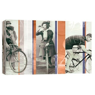 "PTM Images 9-102223  PTM Canvas Collection 8"" x 10"" - ""Vintage Bicycling"" Giclee Bicycling Art Print on Canvas"