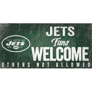 Link to New York Jets Wood Sign Fans Welcome 12x6 Similar Items in Fan Shop