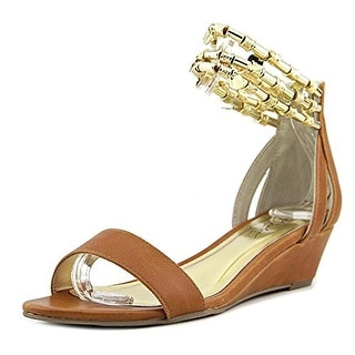 Thalia Sodi Lordes Women Open Toe Synthetic Brown Wedge Sandal