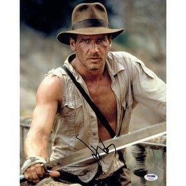 Harrison Ford Signed Indiana Jones Holding Sword Vertical 11x14 Photo PSA/DNA Holo