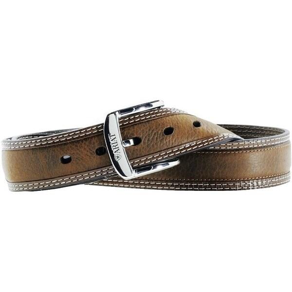 Ariat Western Belt Mens Leather Diesel Brown Oiled Rowdy