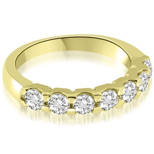 0.70 cttw. 14K Yellow Gold Classic Prong Set Round Diamond Wedding Band