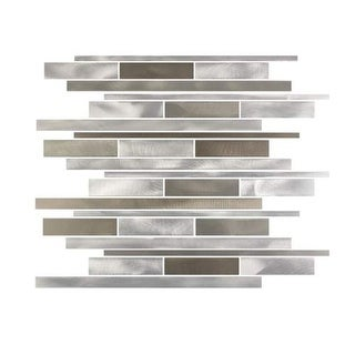Miseno MT-ALLOYLINEARSHWIDE Alloy - Wide Glass Visual - Wall Tile (Sold by Sheet