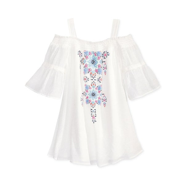 e26f9b23272d9 Sequin Hearts Girls Casual Dress Embroidered Off-The-Shoulder - 16