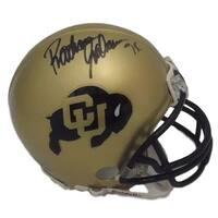 Rashaan Salaam Autographed Colorado Buffaloes Riddell Mini Helmet Steiner