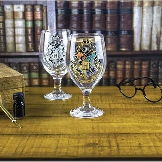 Paladone Harry Potter Hogwarts Color-Changing Wine Glass - 16 Ounces
