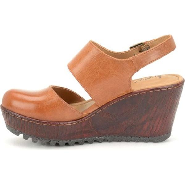B.O.C Womens Helena Leather Round Toe Casual Slingback Sandals