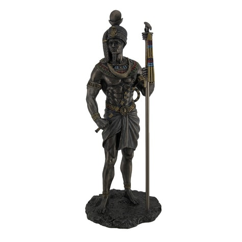 629cb0ea902 Shop Khonsu Ancient Egyptian God of the Moon Bronze Finished Statue - Free  Shipping Today - Overstock - 18594617