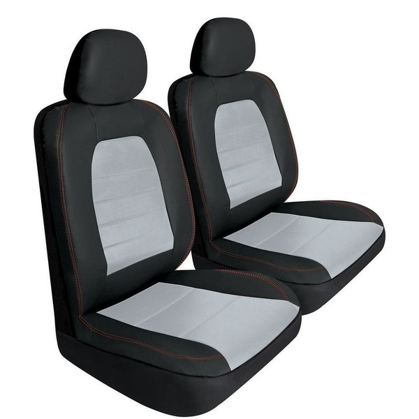 Pilot Automotive Universal Black Synthetic Leather Super Sport Seat Cover (Set of 6)