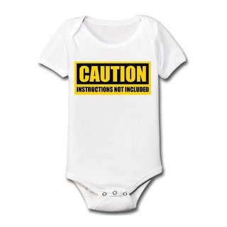 Caution Instructions Not Included Funny Humor Cute-Baby One Piece