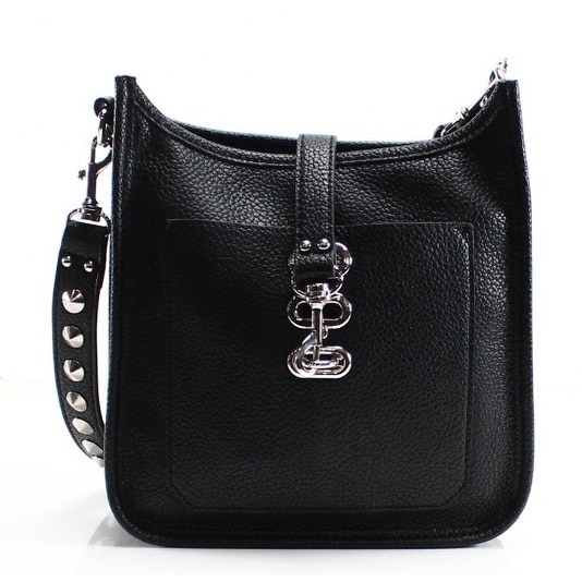 Shop Steve Madden NEW Black Pleather Wylie Small Studded Messenger Bag Purse  - Free Shipping On Orders Over  45 - Overstock - 19557373 d702956b9200f