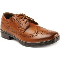 Deer Stags Boys' Ace Wing Tip Oxford Luggage