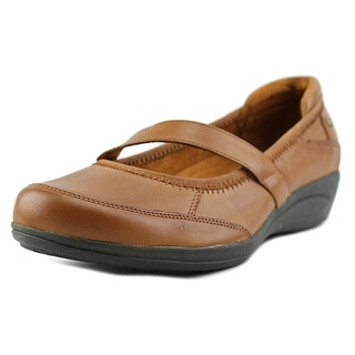 Hush Puppies Velma Oleena Round Toe Leather Mary Janes