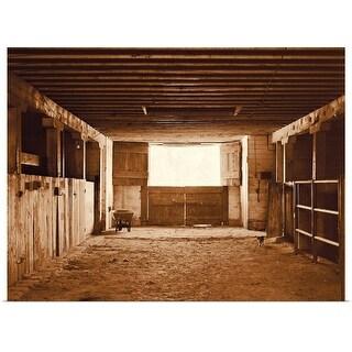 """Barn interior"" Poster Print"