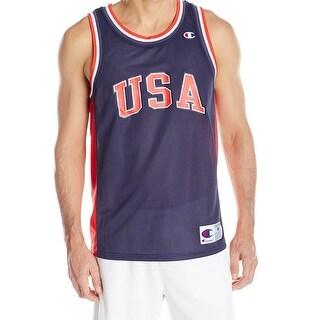 Champion NEW Blue Mens Size Small S Mesh USA Basketball Team Jersey