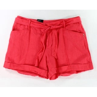 INC NEW Pink Polished Coral Women's Size 14 Tie Waist Casual Shorts