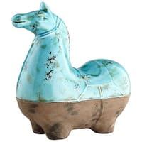 Cyan Design Large Cavallo Sculpture Cavallo 14.25 Inch High Terracotta Figurine