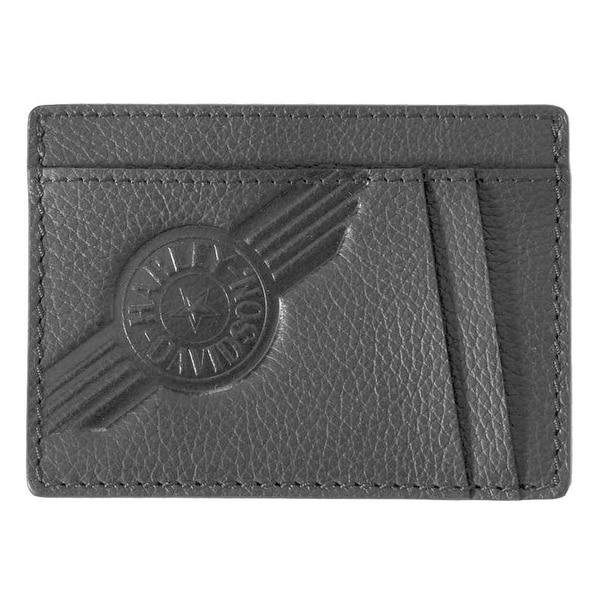 Harley-Davidson Mens Black Leather C4 Front Pocket Wallet CC8197L-BLACK - Small