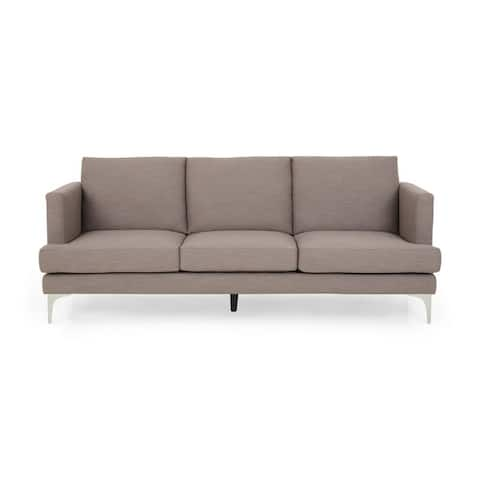 """Cason Modern 3-Seater Fabric Sofa by Christopher Knight Home - 87.75"""" W x 34.50"""" D x 35.25"""" H"""