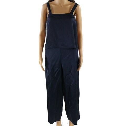 Nikki Chasin NEW Navy Blue Women's Size Large L Popover Jumpsuit