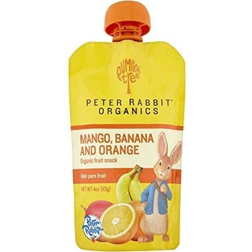 Peter Rabbit Organics - Mango, Banana & Orange Puree ( 10 - 4 OZ)