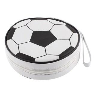 Football Design Zipper Closure 24pcs Disc CD VCD Storage Holder Bag Case