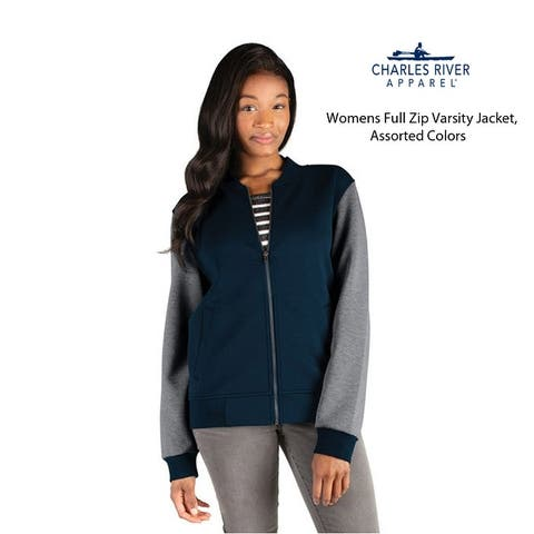Womens Full Zip Varsity Jacket