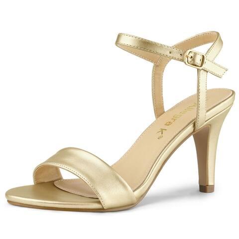 Women Open Toe Stiletto Heel Ankle Strap Dress Sandals