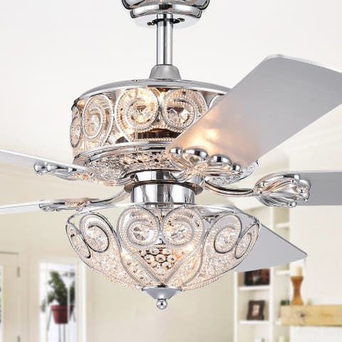 Catalina Chrome 5-blade 52-inch Crystal Ceiling Fan