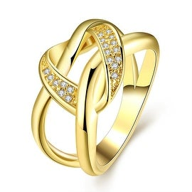 Twisted Modern Love Knot Gold Ring