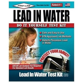 Pro-Lab LW107 Lead In Water Test Kit, Clamshell