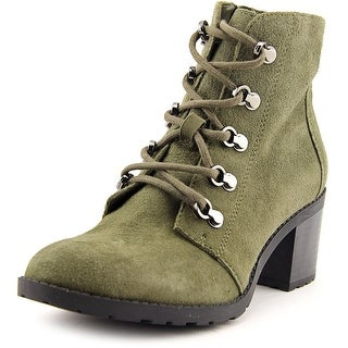 Anne Klein Karsen Women  Round Toe Suede Green Ankle Boot