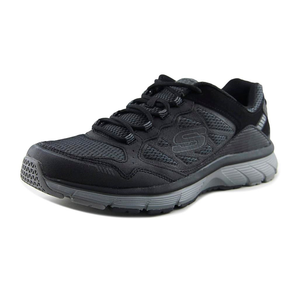 Medalla Actor Óxido  Shop Skechers Bowerz Men Round Toe Leather Black Running Shoe - Overstock -  19694338