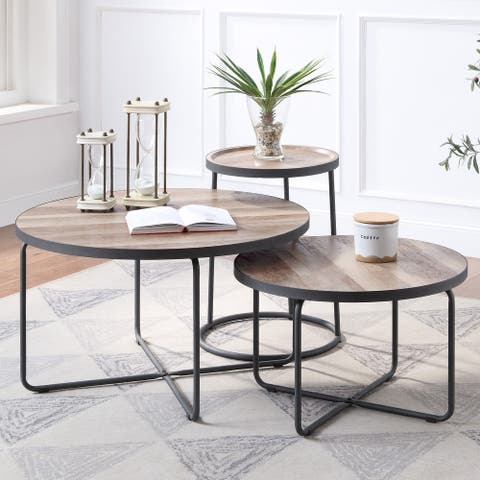 Furniture of America Dunsany Contemporary 3-piece Table Sets