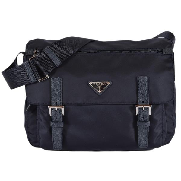 d6140ca4e89 Shop Prada Women's 1BD671 Blue Tessuto Nylon Crossbody Purse Bag ...
