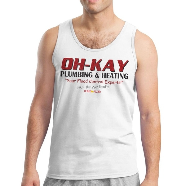 6b8eeaa0c95 Shop Home Alone Oh-Kay AKA Wet Bandits Men s White Tank Top - Free Shipping  On Orders Over  45 - Overstock - 21282573