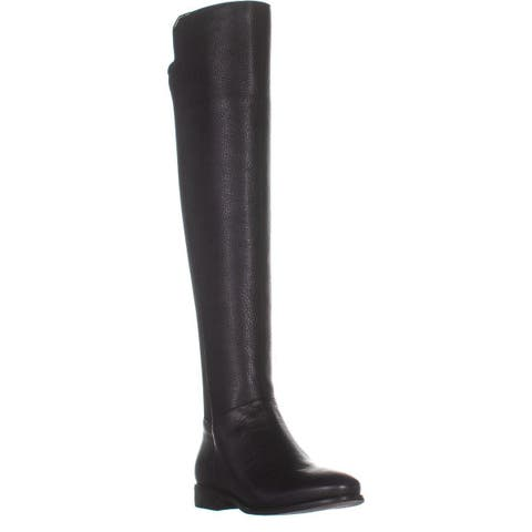 a300d090e0 Cole Haan Dutchess Over The Knee Back Stretch Motorcycle Boots, Black  Leather