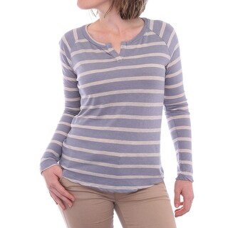 Splendid Baseball Slit Neck 3/4 Sleeve Scoop Neck T-Shirt Women T-Shirt
