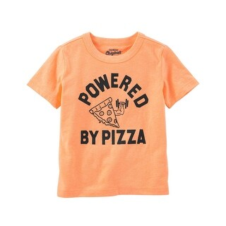 OshKosh B'gosh Baby Boys' Original Graphic Tee, Powered by Pizza, 6-9 Months