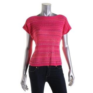 Lauren Ralph Lauren Womens Petites Knit Marled Sweater - pm