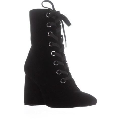 BCBGeneration Alexa Lace Up Block Heel Boots, Black