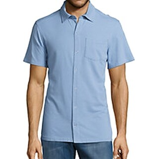 Tommy Bahama NEW Blue Men Small Diamond Texture Button Down Silk Shirt